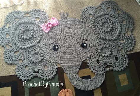 Elephant Rug Knitting Pattern by Crochet Pattern Elephant Rug Manet For
