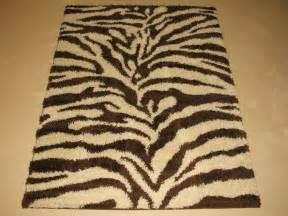 Zebra Print Shag Rug by 5x7 Plush Zebra Animal Skin Modern Shag Brown Chocolate