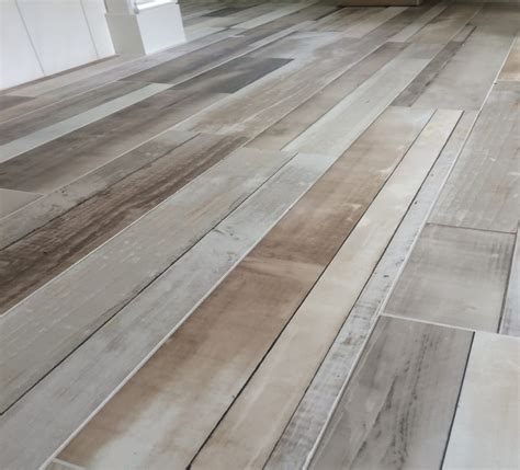 Plank Floor Tile Reclaimed Wood Tile Flooring Tile Design Ideas