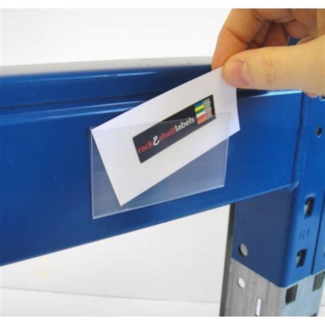 self adhesive self adhesive label holders 76mm x 100mm rack shelf labels