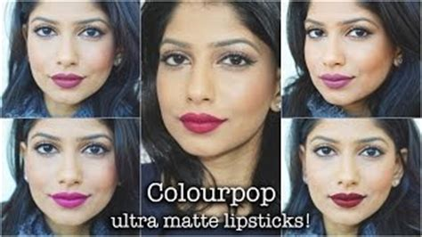 Colourpop Tarot colourpop ultra glossy lip swatches on medium brown skin