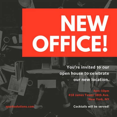 Invitation Cards Templates For New Office Opening by Open House Invitation Templates Canva
