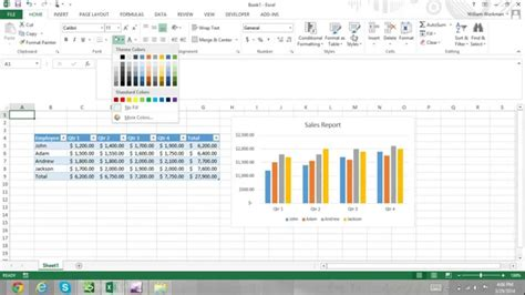 Add Themes To Excel 2013 | excel for noobs part 51 how to apply excel themes excel