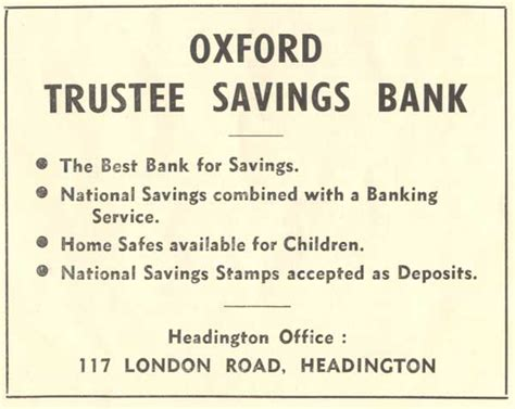 trustee saving bank headington s banks