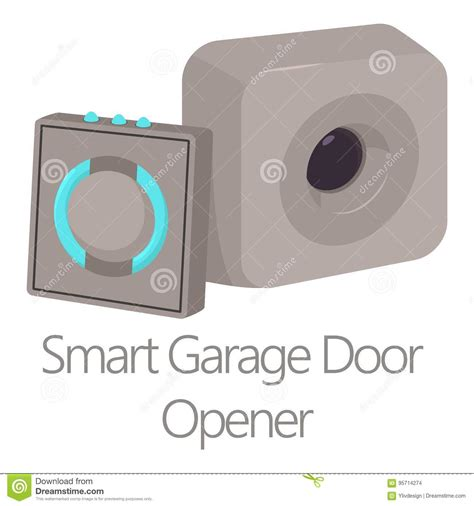 Smart Garage Door Opener Smart Garage Door Opener Icon Style Stock Vector Image 95714274