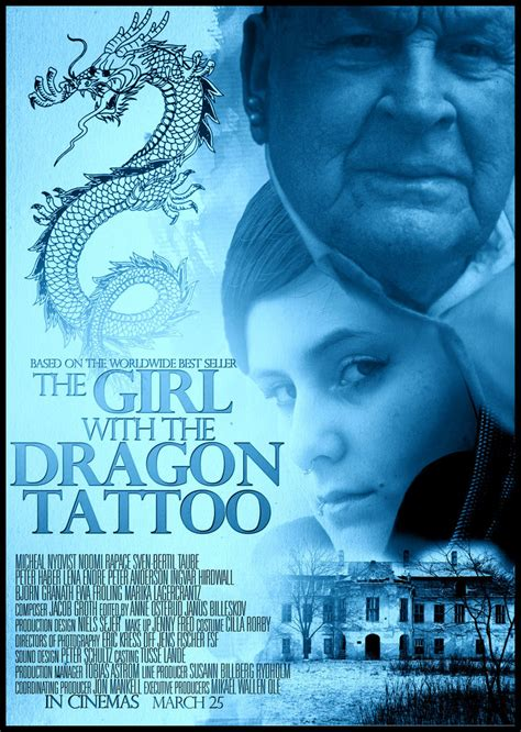 dragon tattoo us movie the girl with the dragon tattoo movie poster by dans