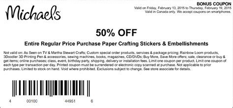 printable sticker paper michaels michaels coupons 25 off your entire purchase 40 off