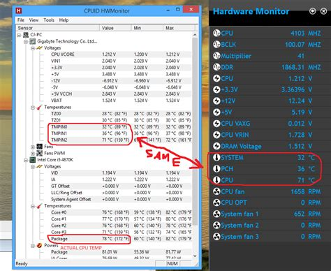 Computer Pch Temperature - hwmonitor cpu package temp vs gigabyte hardware monitor cpu temp solved cpus
