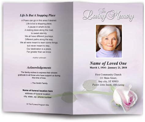 funeral programs and memorials in loving memory
