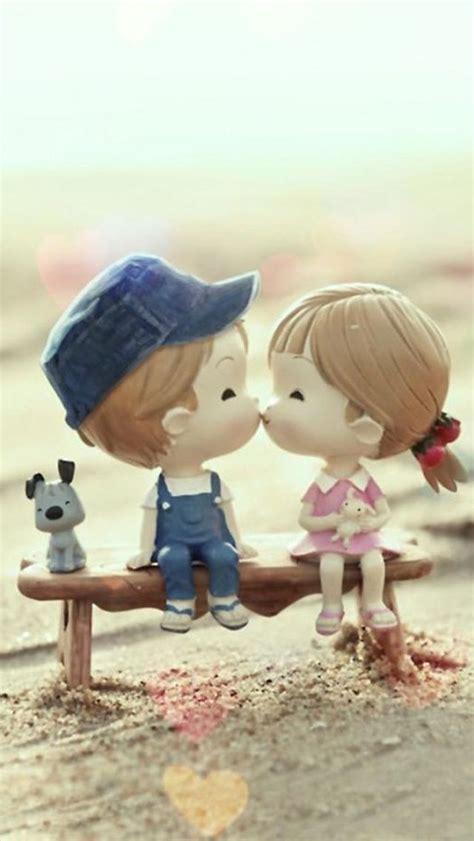 sweet cartoon cute lover couple iphone  wallpaper