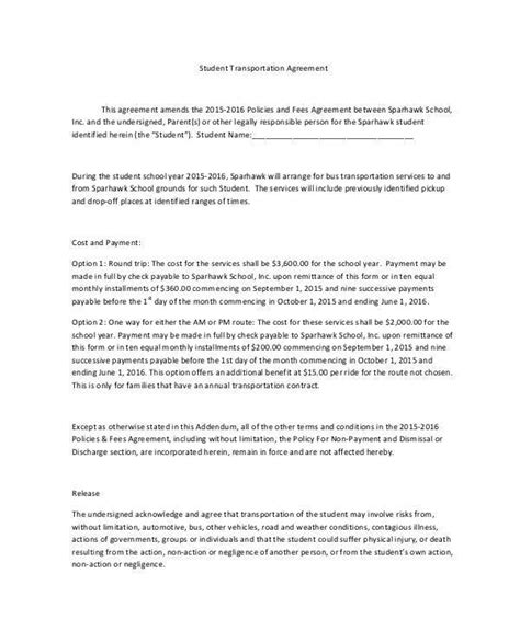 100 student contract template cscl