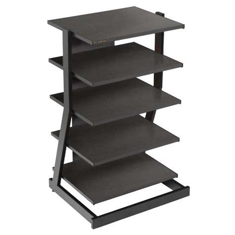 Audio Component Shelf by Plateau Z Series 5 Shelf Modern Audio Rack Black Z 5ab
