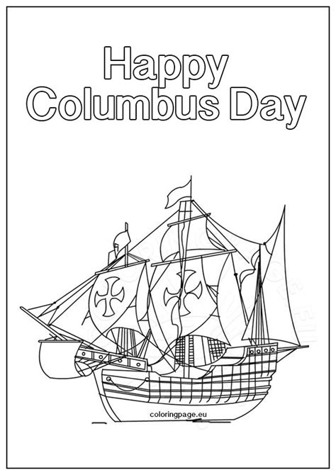 columbus day ship coloring page coloring page