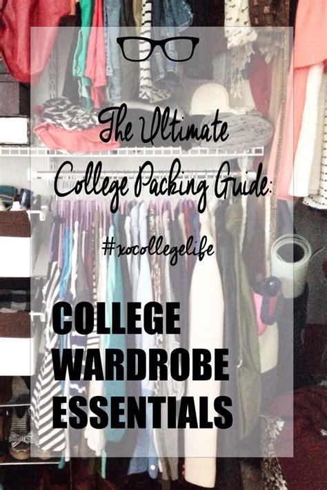 College Closet Essentials by College Wardrobe Essentials Alex