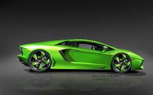 Green Lamborghini Wallpaper Green And Black Lamborghini Wallpaper 3 Hd Wallpaper