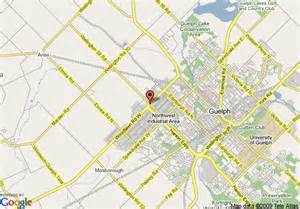 map of 8 motel guelph kitchener waterloo area guelph