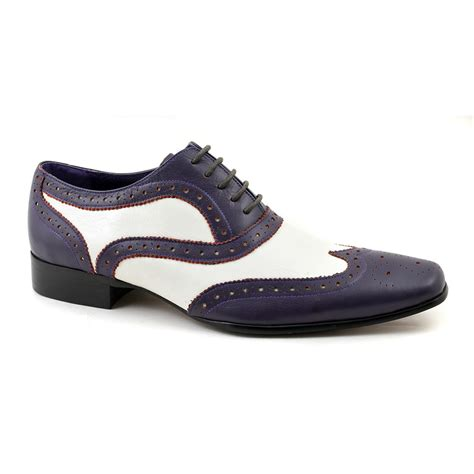 white oxford shoes mens buy gatsby purple white oxford two tone brogue gucinari