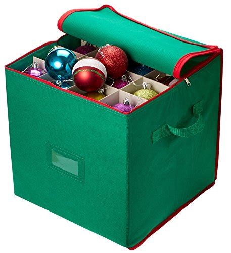christmas ornament boxes on sale buy special ornament storage stores up to 64 ornaments adjustable