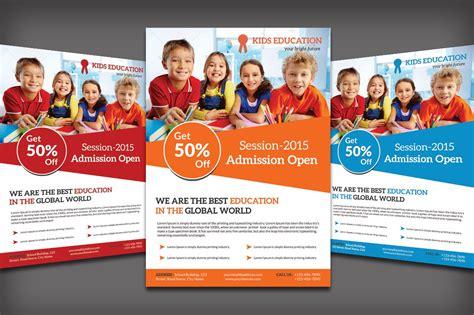 education flyer school education flyer flyer templates creative market