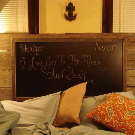 chalkboard headboard bed ridden blackboards reclaimed wood chalkboard headboard