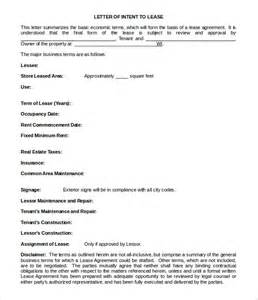 lease letter of intent template simple letter of intent templates 18 free sle