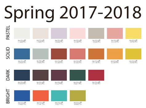 2017 color trends pantone spring 2017 2018 pantone updated back to brain learning