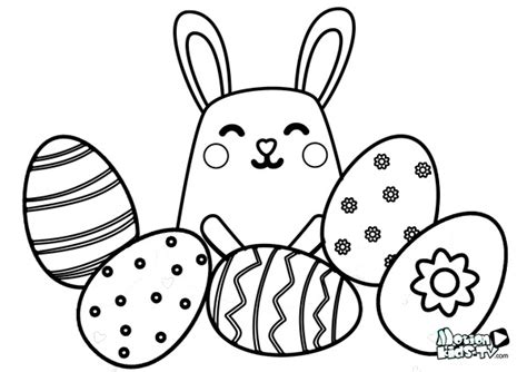 dibujos para colorear de conejitos bebes easter coloring pages for kids easter eggs and more