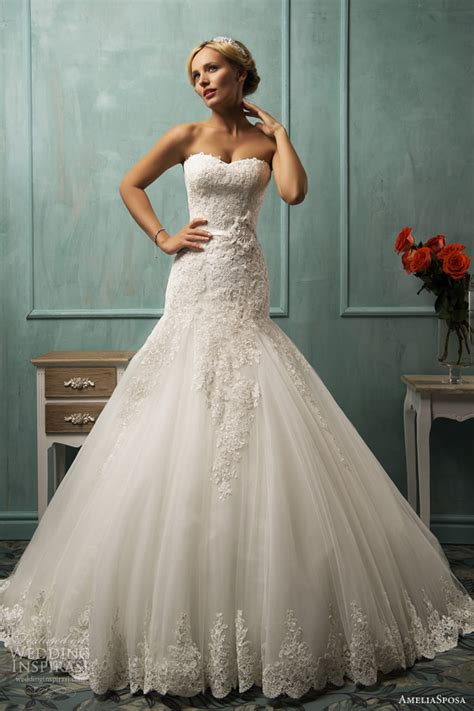 Amelia sposa 2014 arabella fit and flare wedding dress
