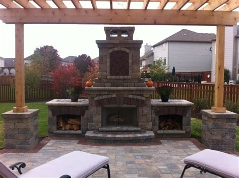 pergola with fireplace fireplace and pergola