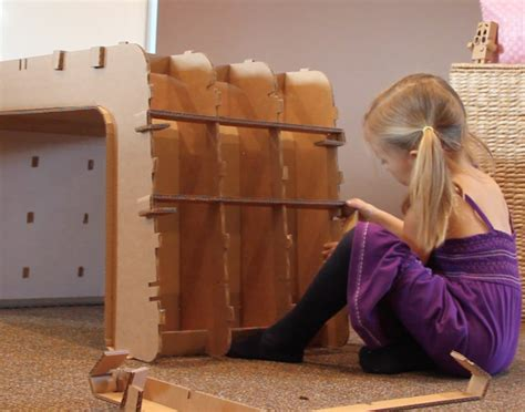 how to make a child s desk recycled cardboard imagination desk and chair