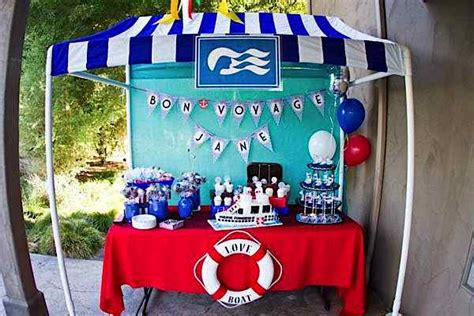 love boat theme party food kara s party ideas love boat themed bon voyage farewell