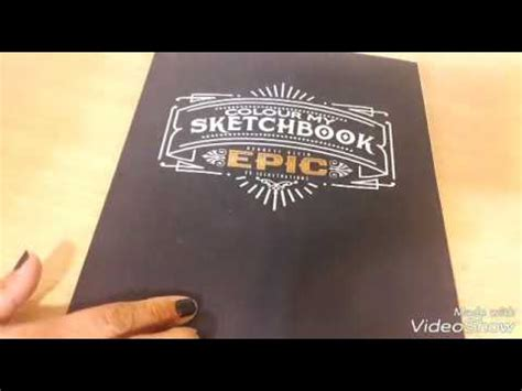 libro colour my sketchbook epic flip through of colour my sketchbook epic by bennett klein youtube