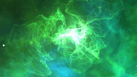 green electric sparks stock footage video