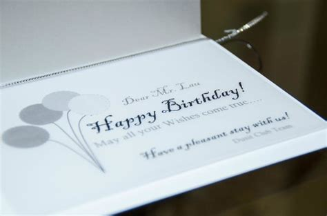 birthday card picture  dusit thani dubai tripadvisor