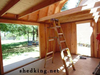 building  shed loft  easy