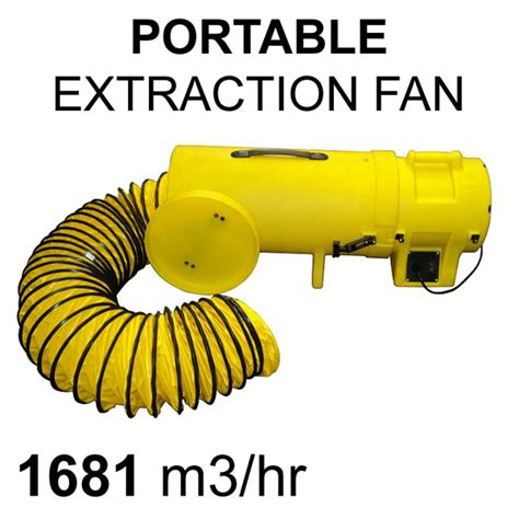 portable industrial extraction fan 200mm pure ventilation