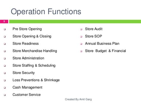 retail store operations gt gt 18 great store operations
