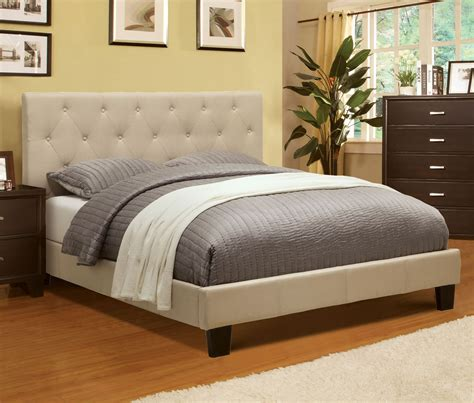 king size upholstered platform bed furniture of america harmen upholstered platform bed