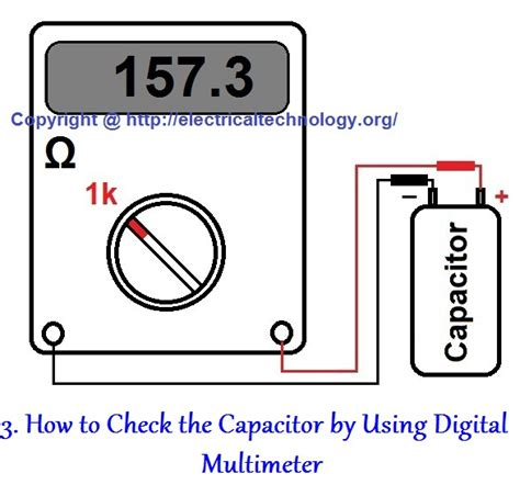 test capacitor with multimeter how to test a capacitor 6 ways to check a capacitor electrical eng