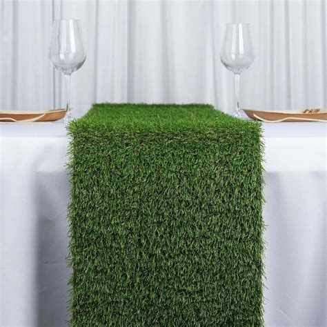 "12x108"" Artificial Grass Table Runner   Tablecloths"