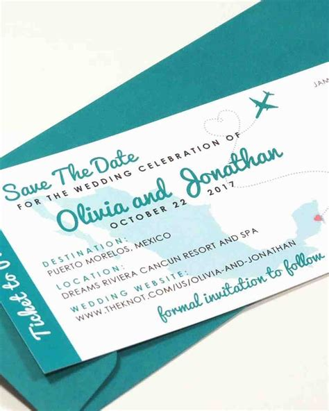 32 destination wedding save the dates martha stewart - Exle Of Destination Wedding Save The Date