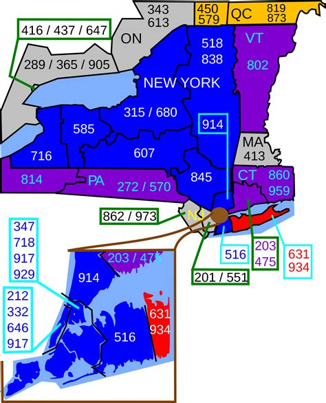 us area code history area codes 631 and 934
