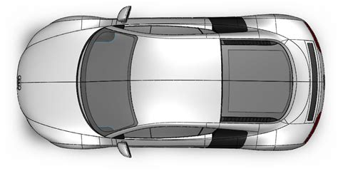 Car Plan View by How To Model A Audi R8 In Solidworks 12 Hours In 5