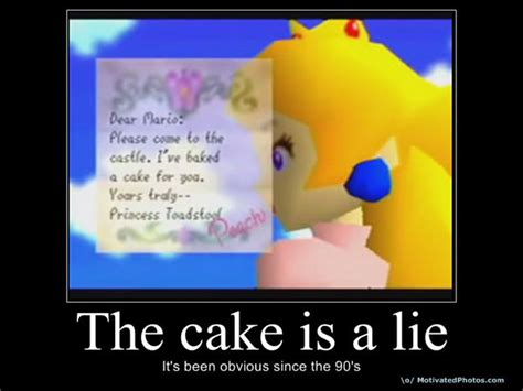 The Cake Is A Lie Meme - mario cake is a lie by cookietotheminimum on deviantart