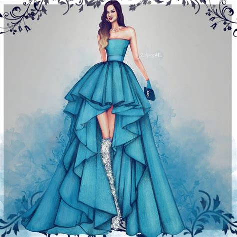 fashion illustration gown 25 best ideas about drawing fashion on