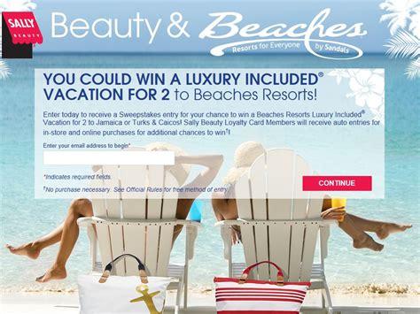 Beaches Sweepstakes - sally beauty beauty beaches sweepstakes