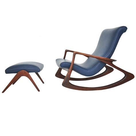 Rocking Chair With Ottoman by Vladimir Kagan Rocking Chair With Ottoman At 1stdibs