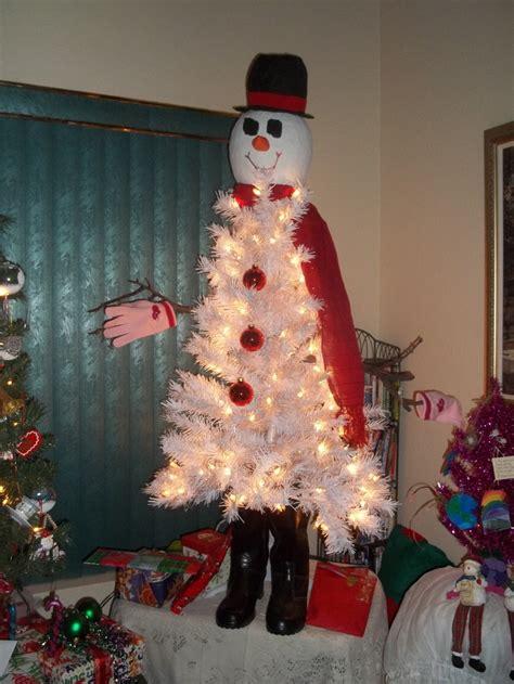 snowman christmas tree holiday ideas pinterest