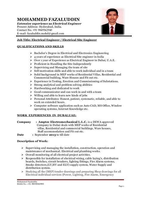 building services engineer exle cv b tech electrical engineer cv