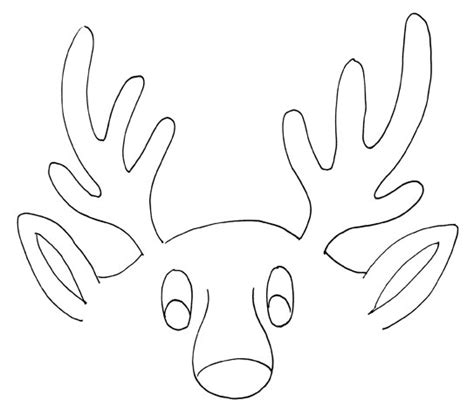 reindeer antlers template free coloring pages